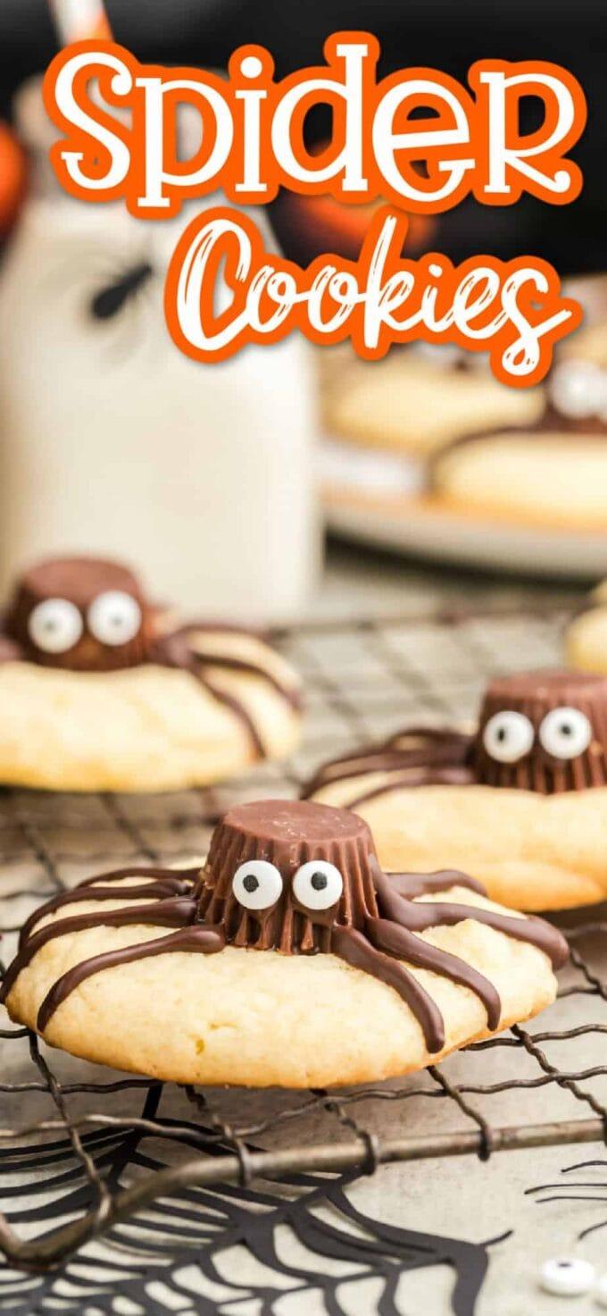 Spider Cookies Pinterest Image