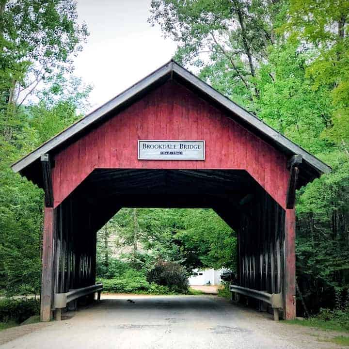 Red covered bridge in Vermont