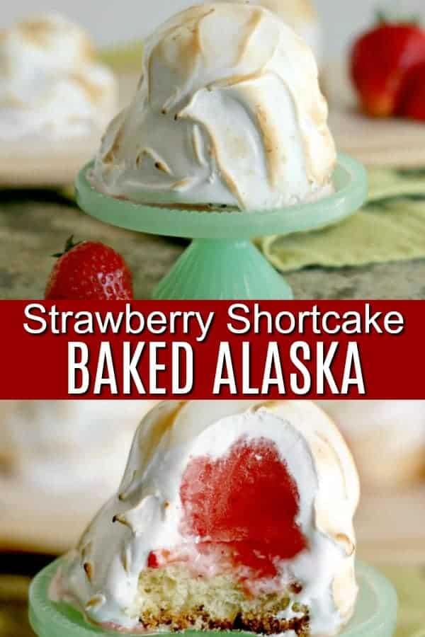 Strawberry Shortcake Baked Alaska