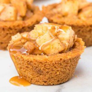 Caramel Apple Crisp Bites square