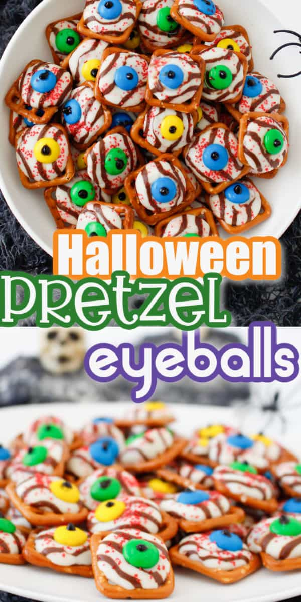 Halloween Pretzel Monster Eyeballs Pinterest image