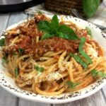 Instant Pot Spaghetti with Meat Sauce square featured
