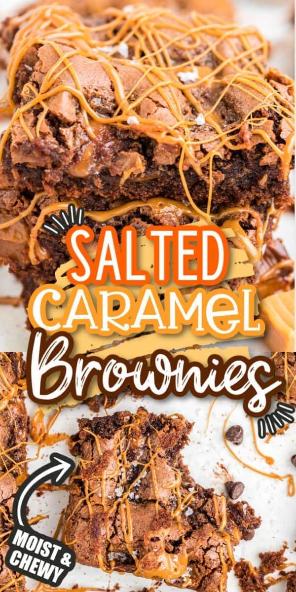 Salted Caramel Brownies Pinterest
