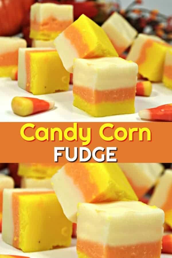 Candy Corn Fudged - easy homemade fudge