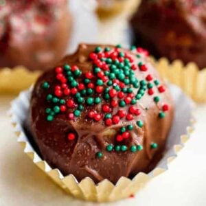 Chocolate Peanut Butter Balls square featured image