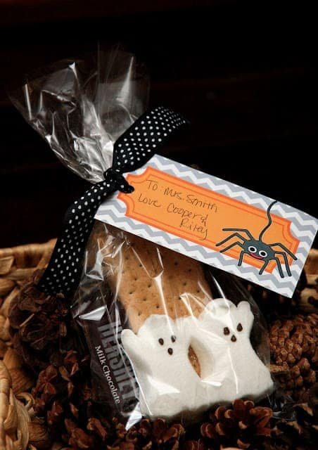 Halloween Smores by Yellow Bliss Road | The best Halloween Gift and Boo ideas ever! #Boo #HalloweenGifts #TrickorTreat #HalloweenFun