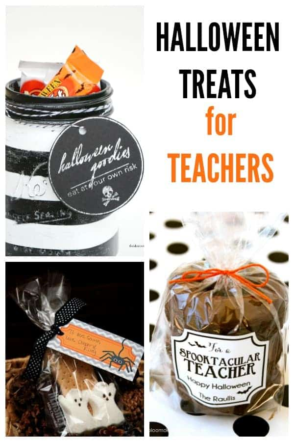 "Halloween Treat Ideas for Teachers | Celebrate your ""spooktacular"" teachers with a handmade gift just for them. These creative ideas are so much fun! #HalloweenFun #TrickOrTreat #BooIdeas"