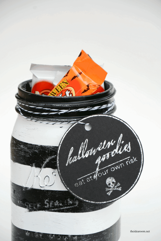 Halloween Treat Jars by The Idea Room | Halloween Treats and Boo Ideas that are the cutest ever! #Boo #Halloween #HalloweenIdeas #BooIdeas #TrickorTreat #HalloweenTreats