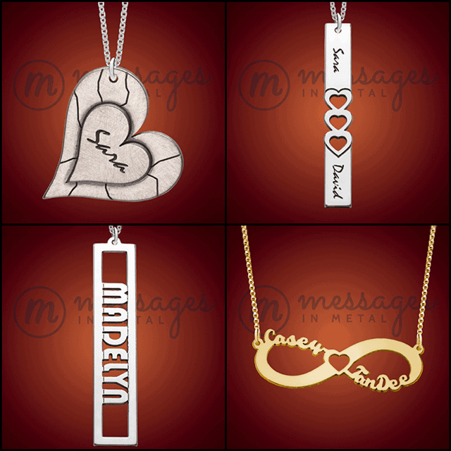 Name Necklaces make a great gift for mom