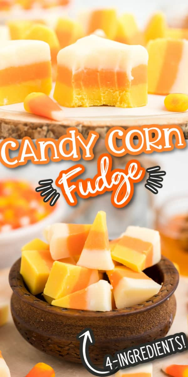 Candy Corn Fudge Pinterest