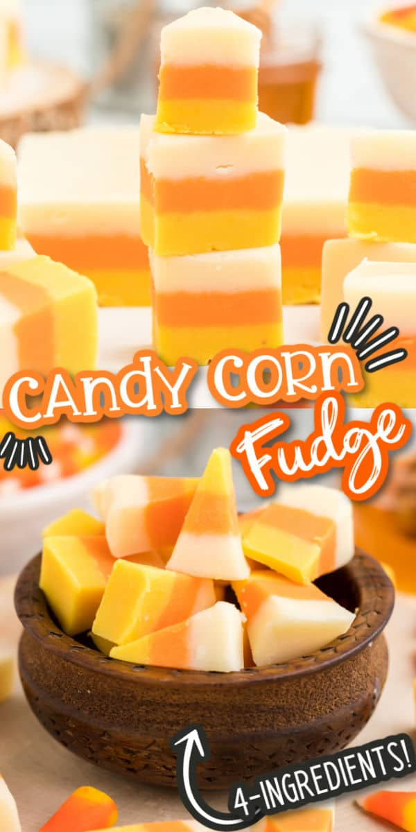 Candy Corn Fudge Pinterest Image