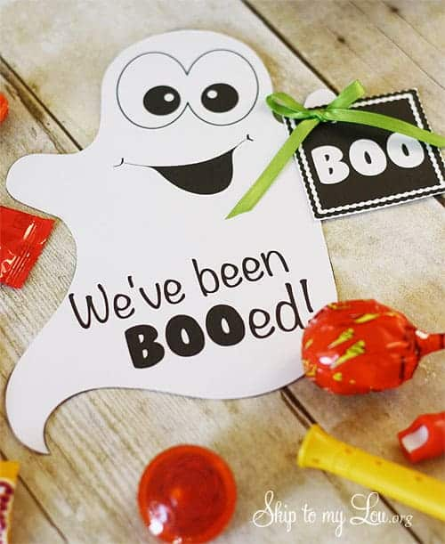 We've been Bood printable from Skip to My Lou | Scare up some Halloween fun with these fun boo printables!