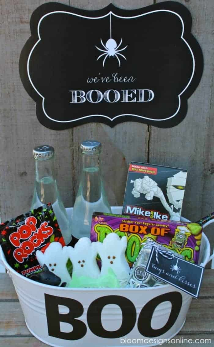 White Boo Galvanized Bucket By Bloom Designs | The Most Creative and Cute Ways to Boo!