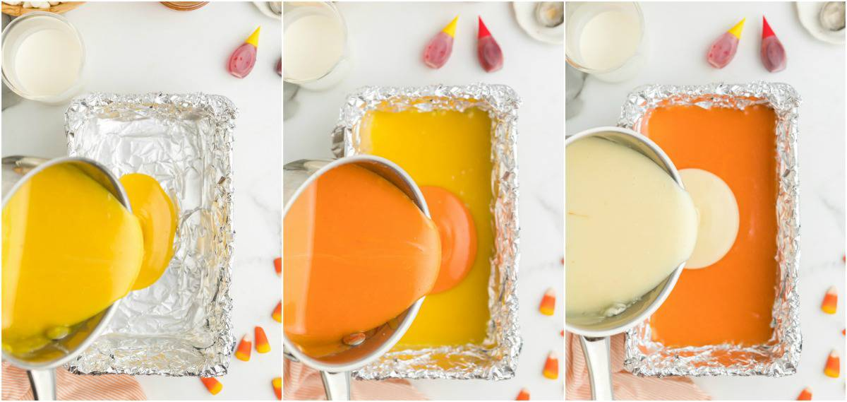 how to make candy corn fudge
