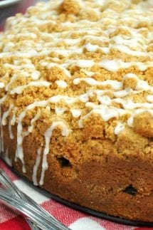 Cinnamon Apple Crumb Cake whole cake square featured