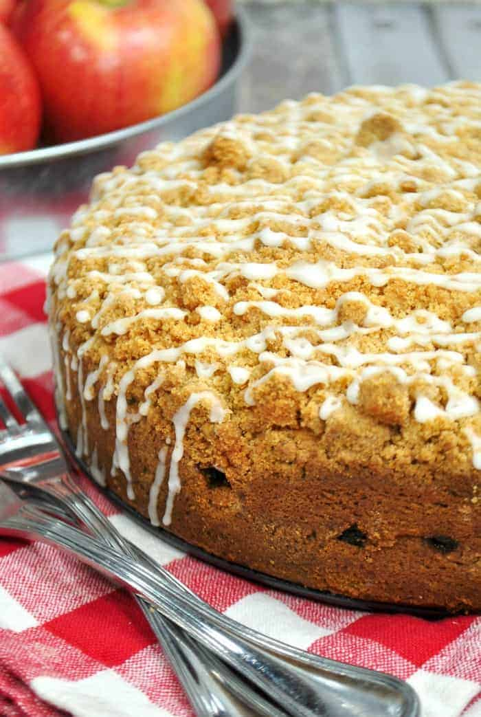 Cinnamon Apple Crumb Cake whole cake