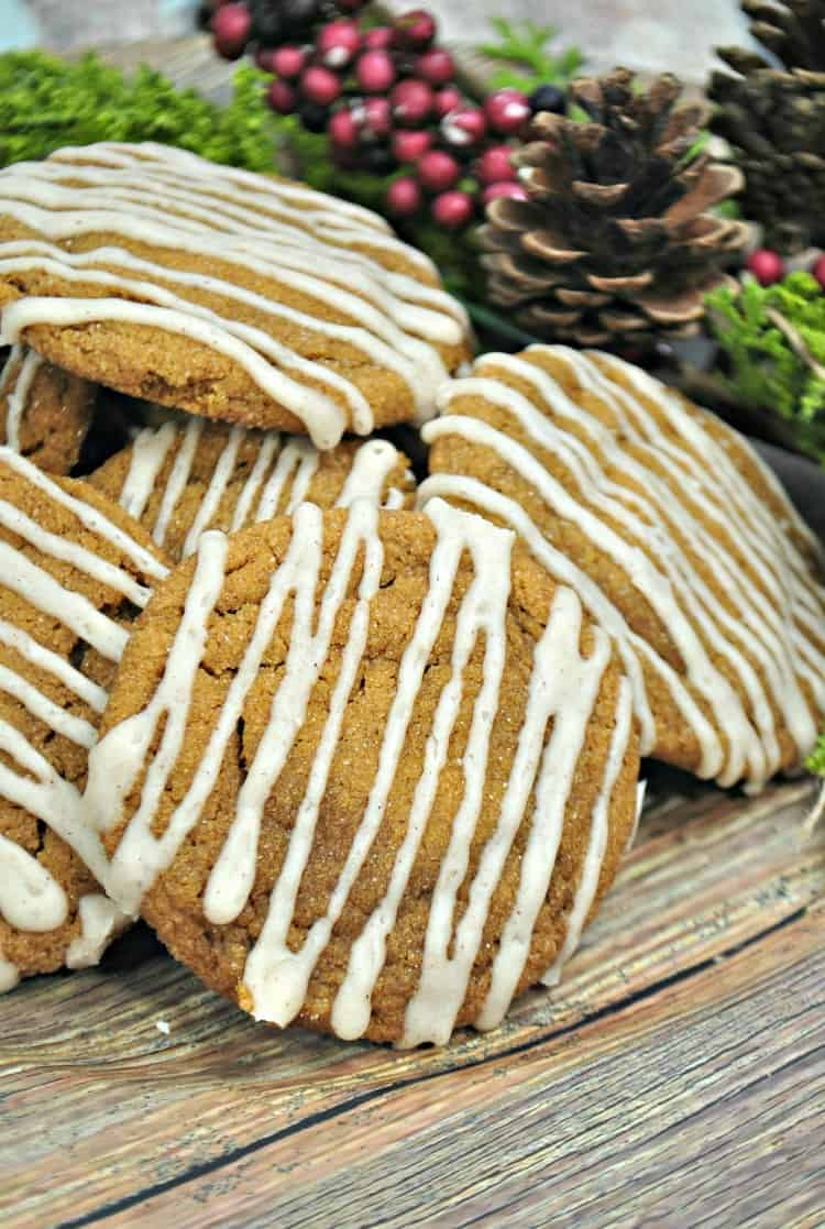 Gingersnap Cookies soft and chewy
