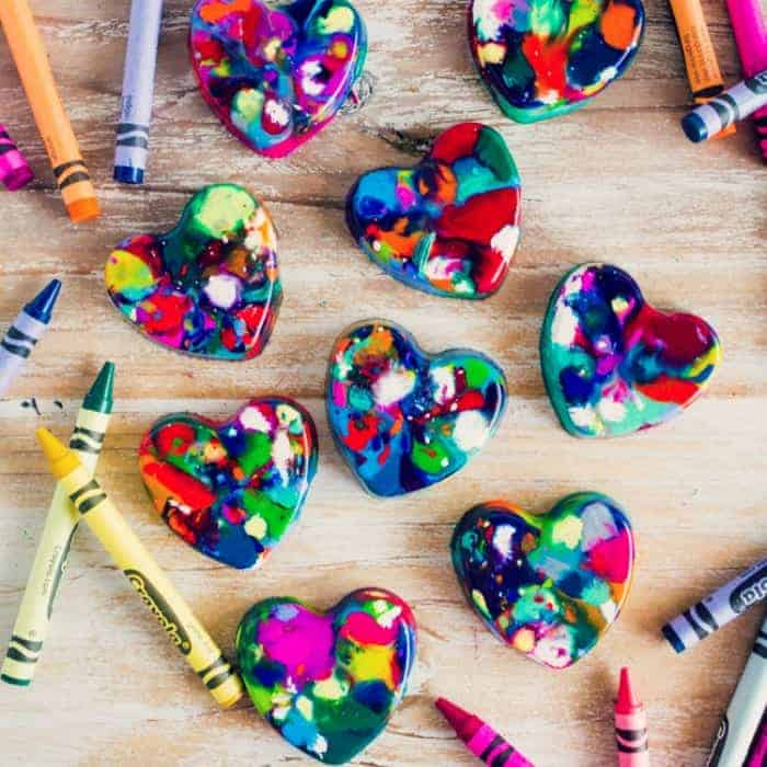 Heart Shaped Crayons-Homepage featured