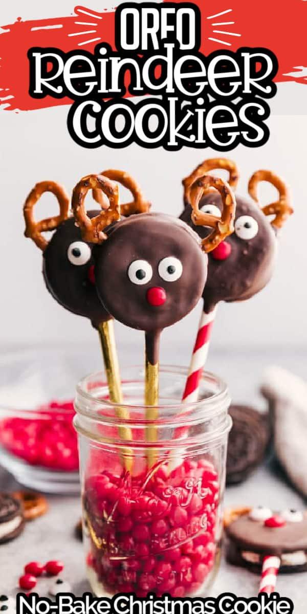 Reindeer Cookies Pinterest Image