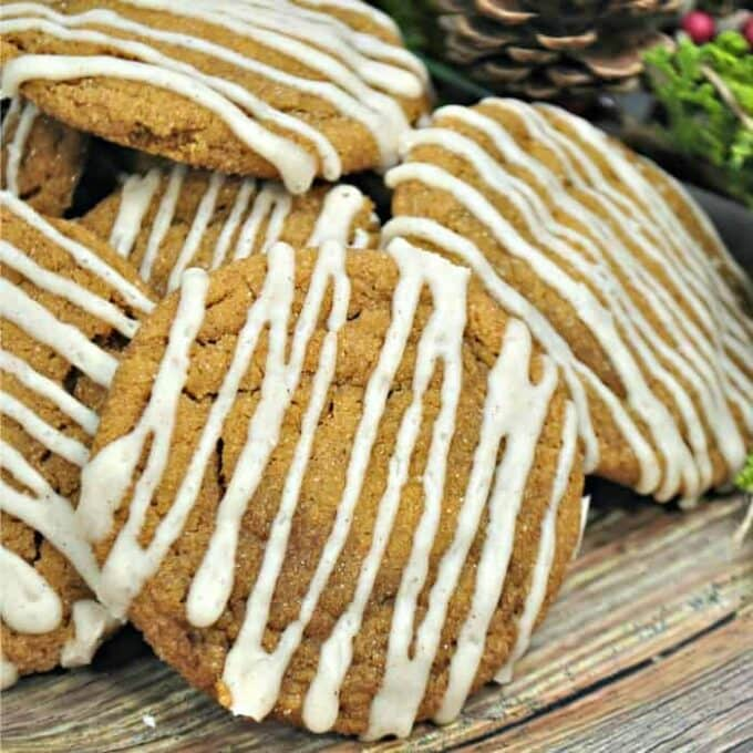 gingersnap cookies square featured