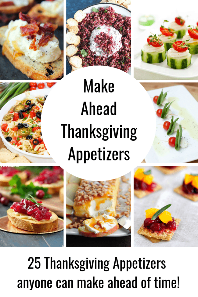 25 make ahead thanksgiving appetizers