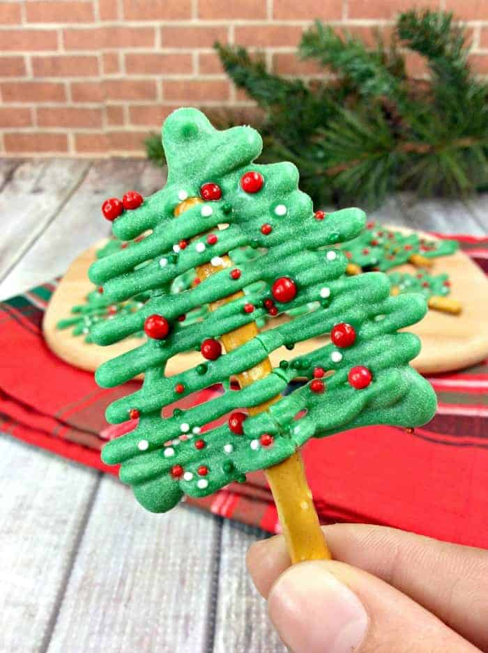 Christmas Pretzel Rods.Christmas Tree Pretzel Sticks Princess Pinky Girl