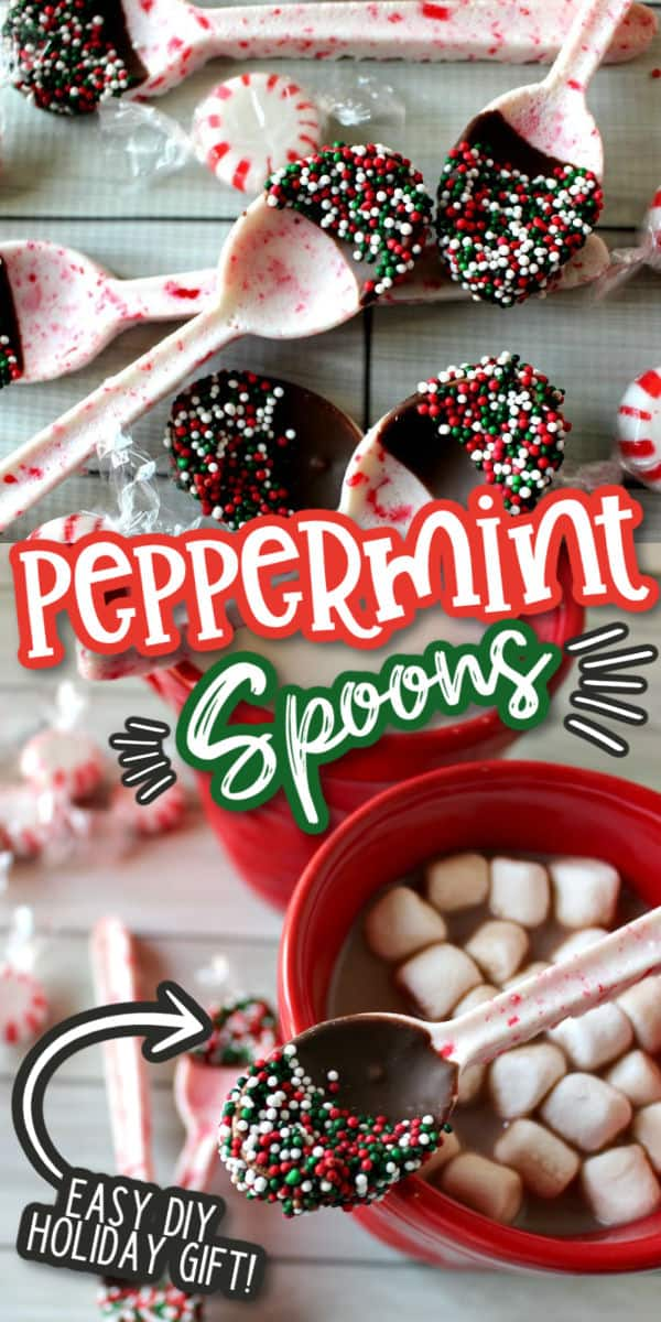 Peppermint spoons pinterest image