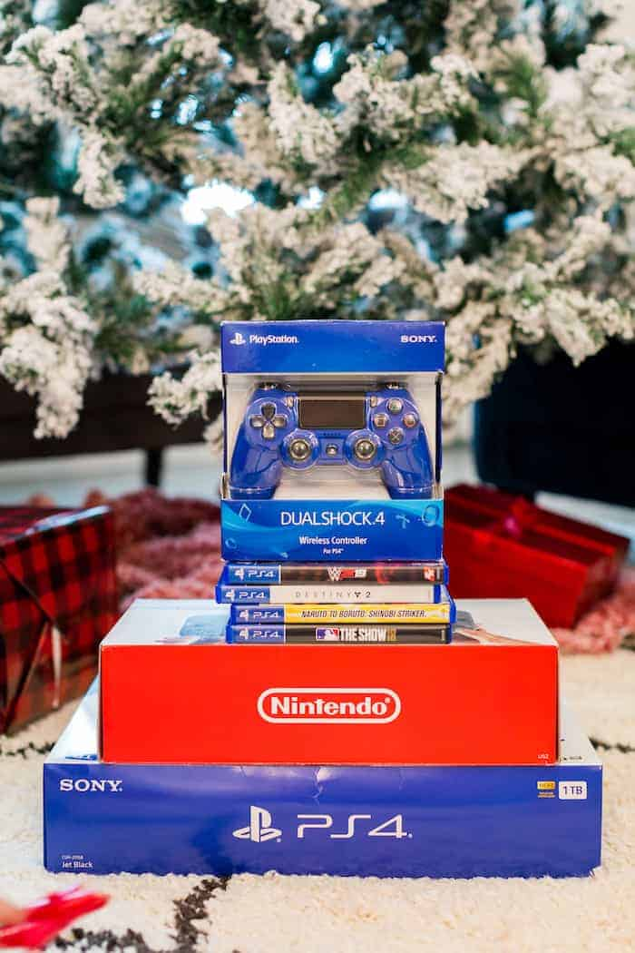 Video games under a Christmas Tree