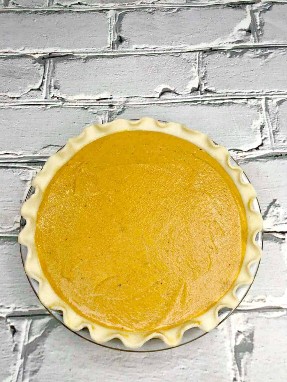 Sweet Potato Pie with no toppings