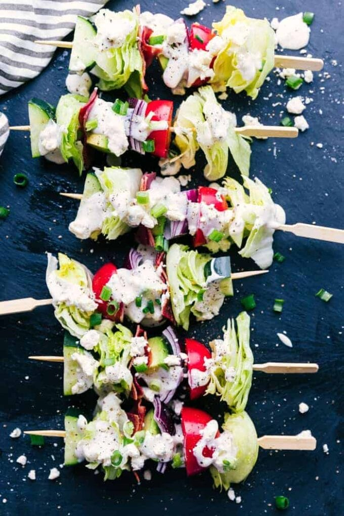 Wedge Salad Skewers | Princess Pinky Girl