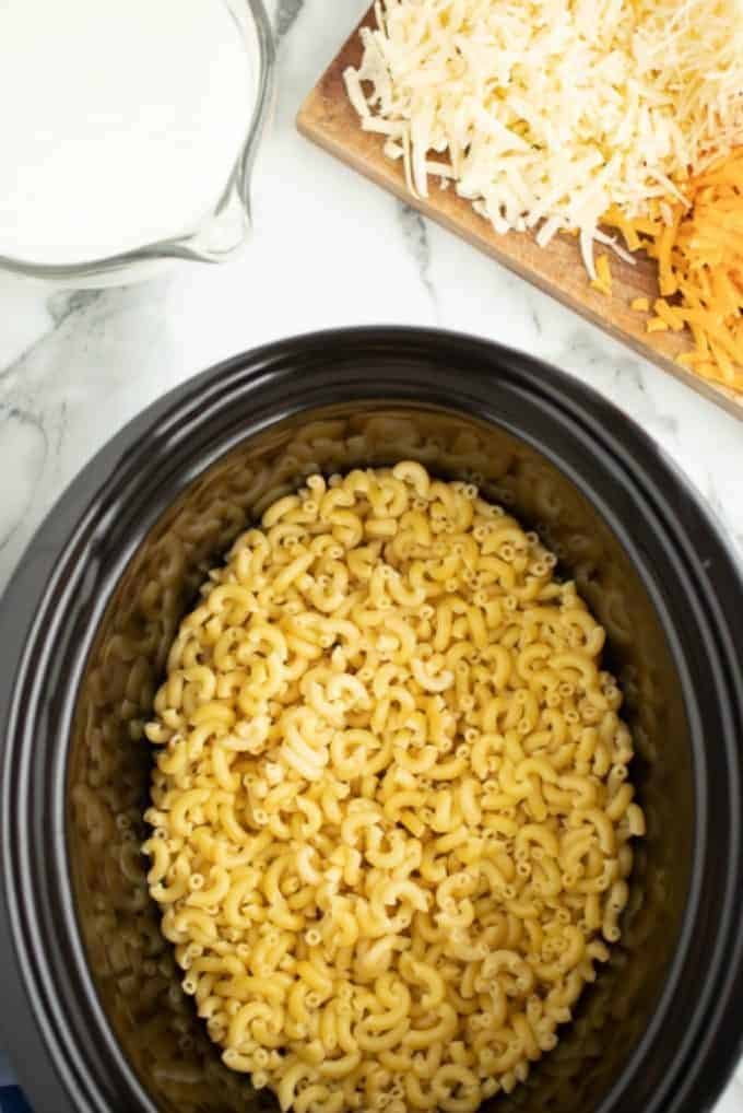 Crock Pot Mac and Cheese Ingredients