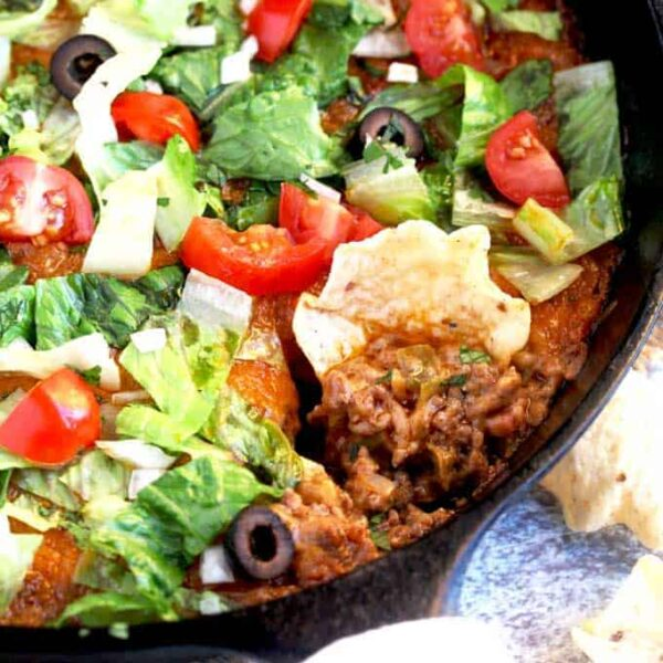 Warm and Cheesy Taco Dip