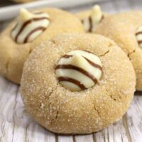 Peanut Butter Blossom Cookies Square