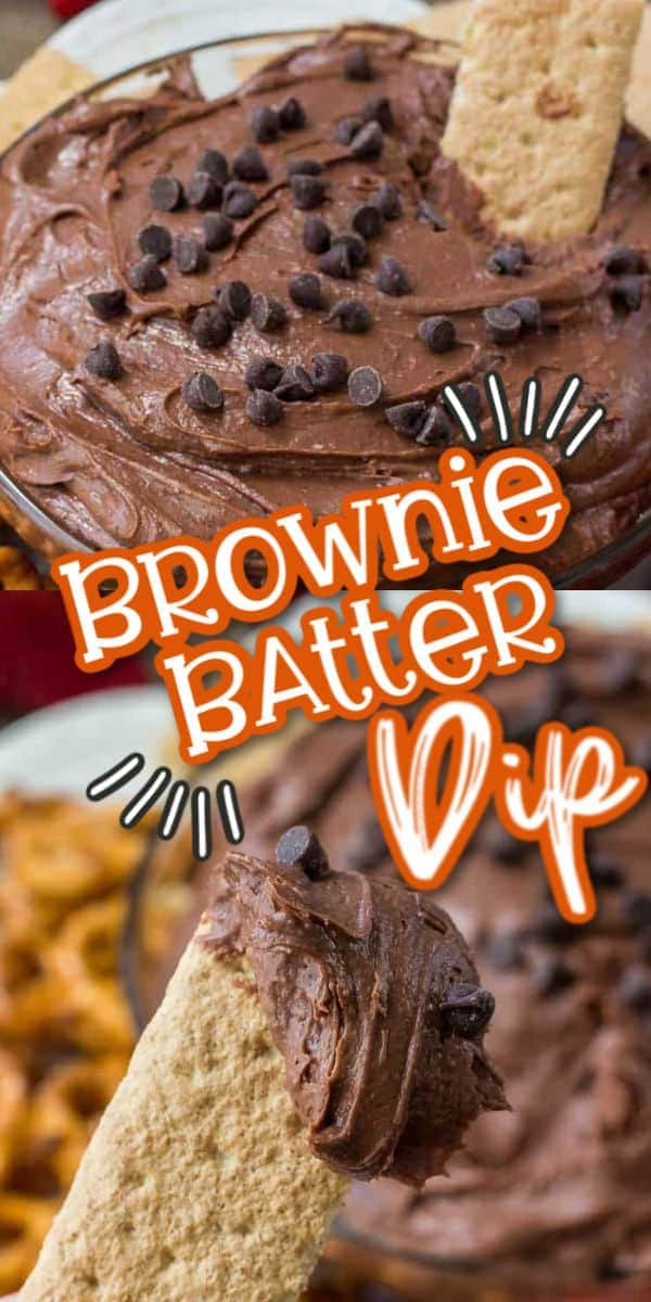 brownie batter dip pinterest image