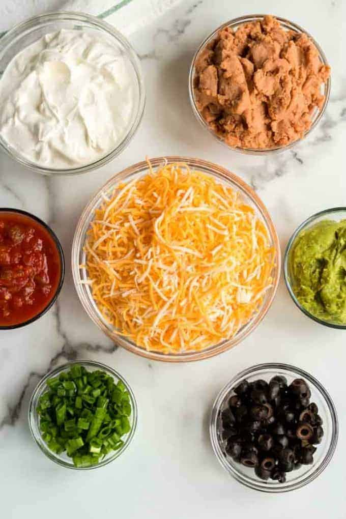Seven Layer Dip Ingredients