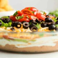 Seven Layer Dip Recipe square