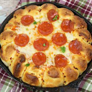 Garlic Bread Pizza Dip square 2