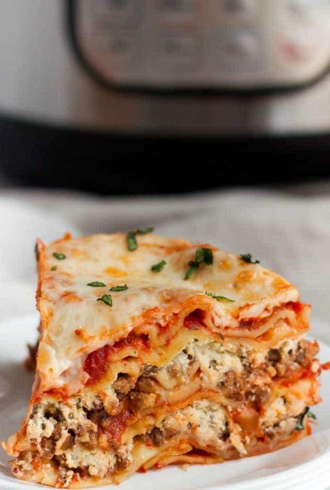 Instant Pot Lasagna slice