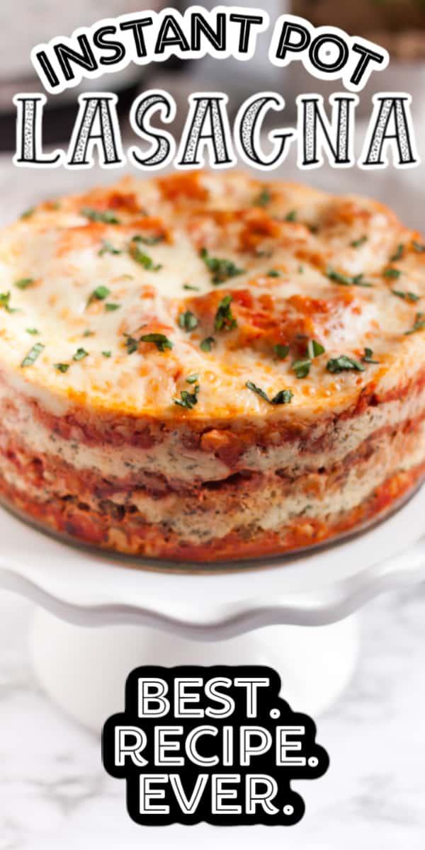 Instant Pot Lasagna Pinterest