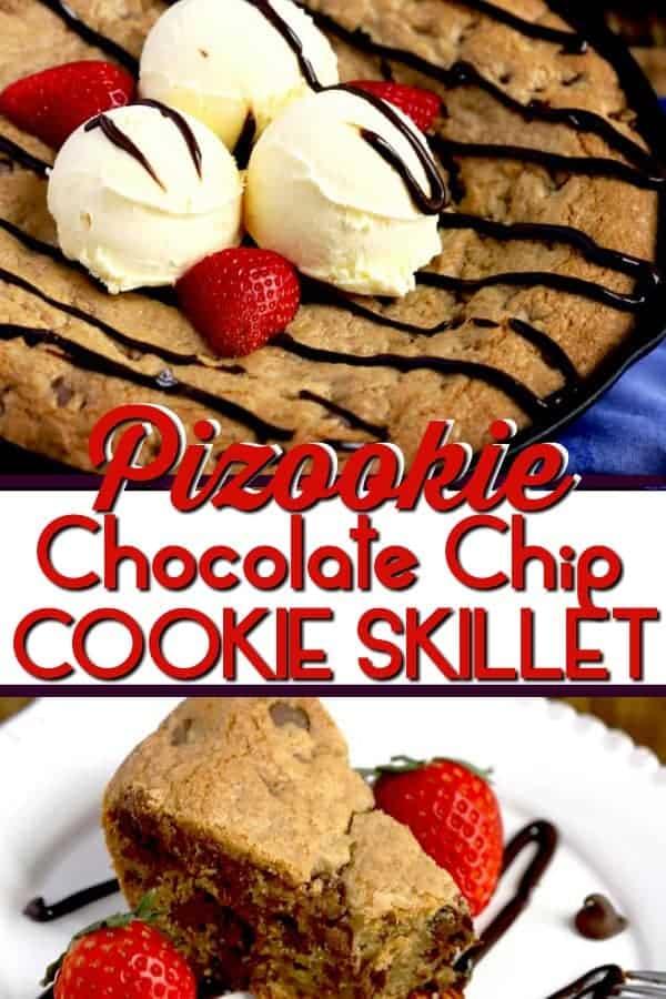 Pizookie Chocolate chip cookie skillet