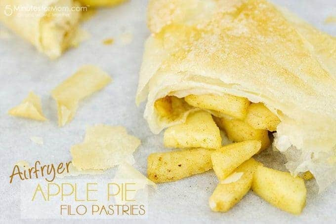 Air Fryer Apple Pie Filo Pastries from 5 Minutes for Mom