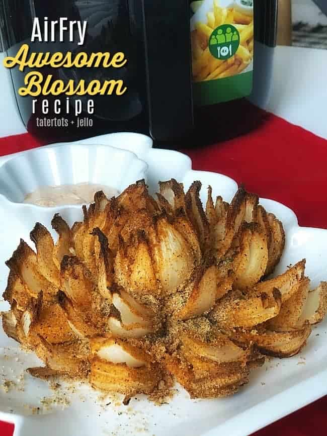 Air Fryer Blooming Onion by Tatertots and Jello