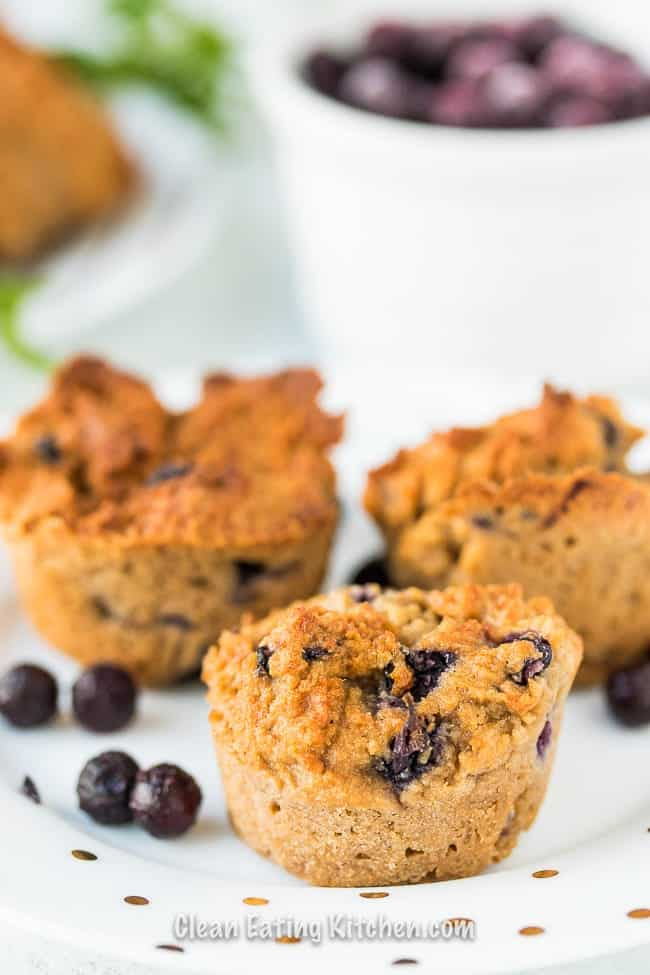 Air Fryer Blueberry Muffins by Clean Eating Kitchen