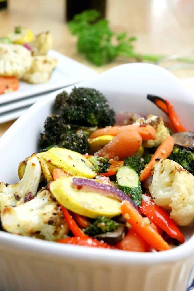 Air Fryer Roasted Vegetables by Brooklyn Active Mama