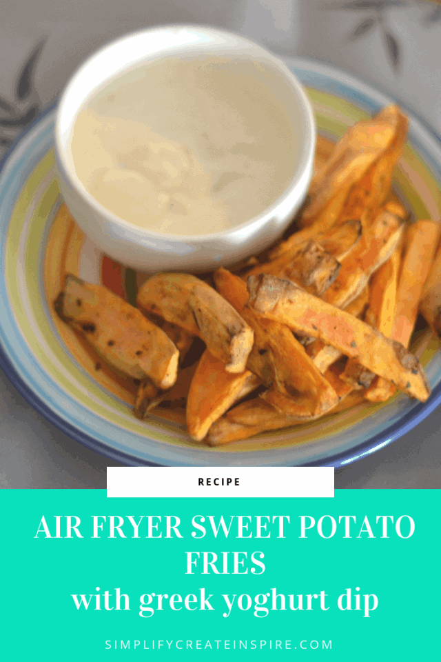 Air Fryer Sweet Potatoes Fries by Simplify Create Inspire