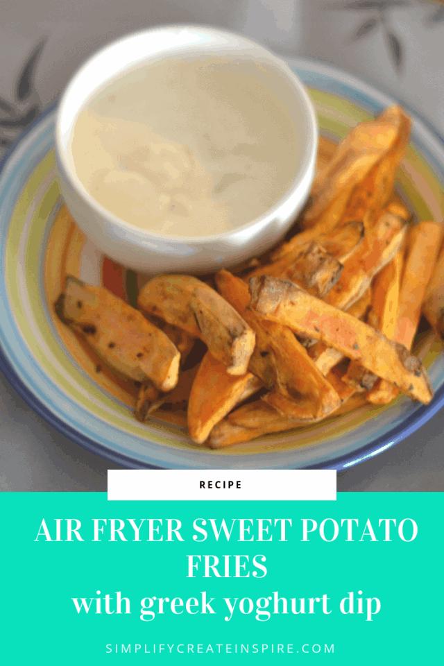 Air Fryer Sweet Potatoes Fries by Simplify Create Inspire