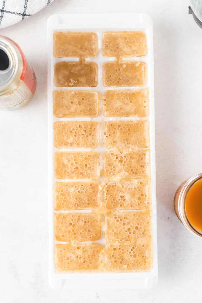 Butterbeer in ice cube tray
