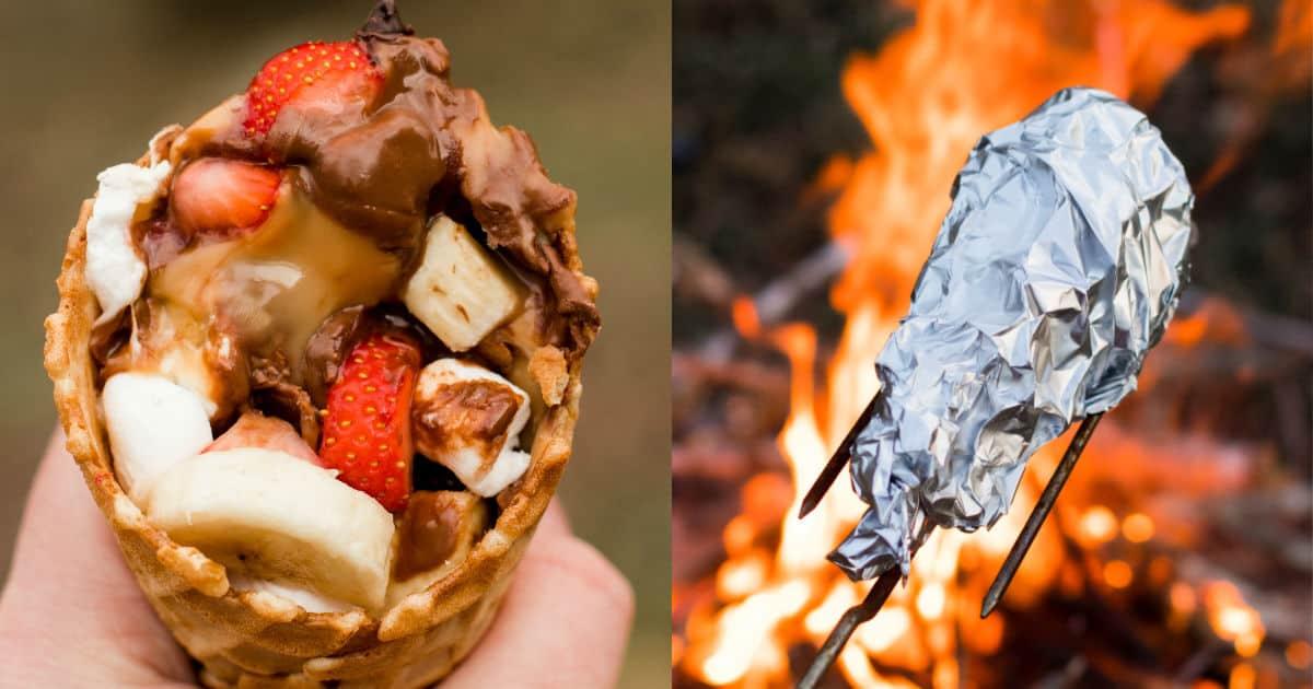 Campfire Cones - Stuff 'em, Wrap 'em, Grill 'em, EAT 'em!