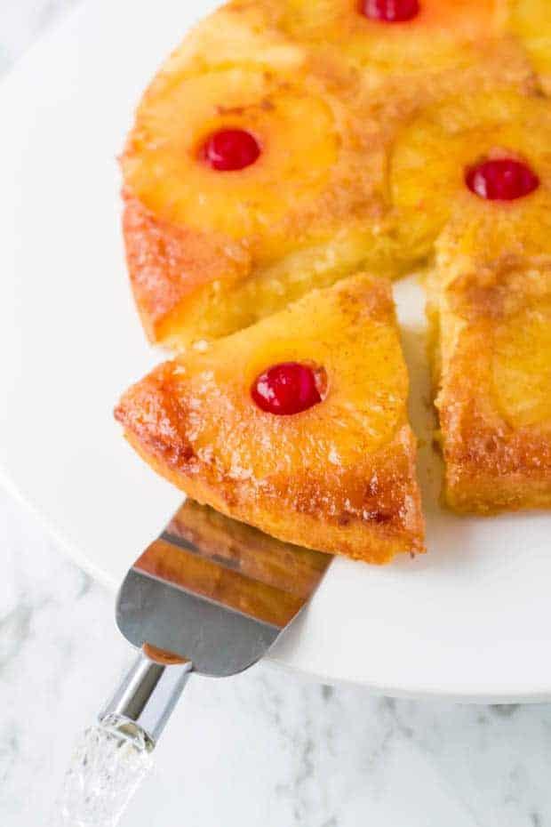 Pineapple Upside Down Cake piece
