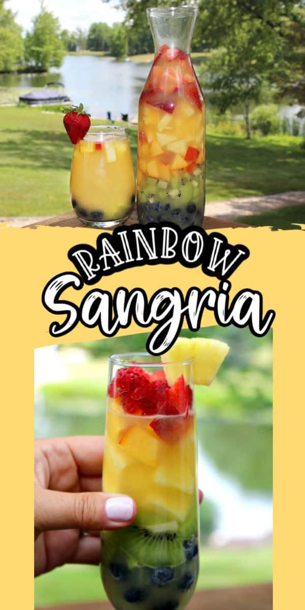 rainbow sangria recipe pinterest